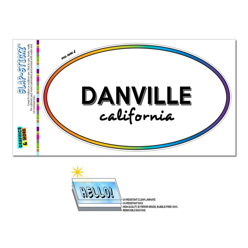 Rainbow euro oval window laminated sticker california ca for Davis motor sales danville va