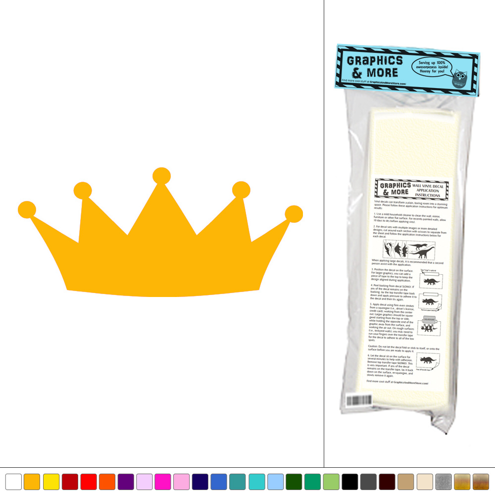 Crown - Royalty Prince Princess - Vinyl Sticker Decal Wall Art Decor ...