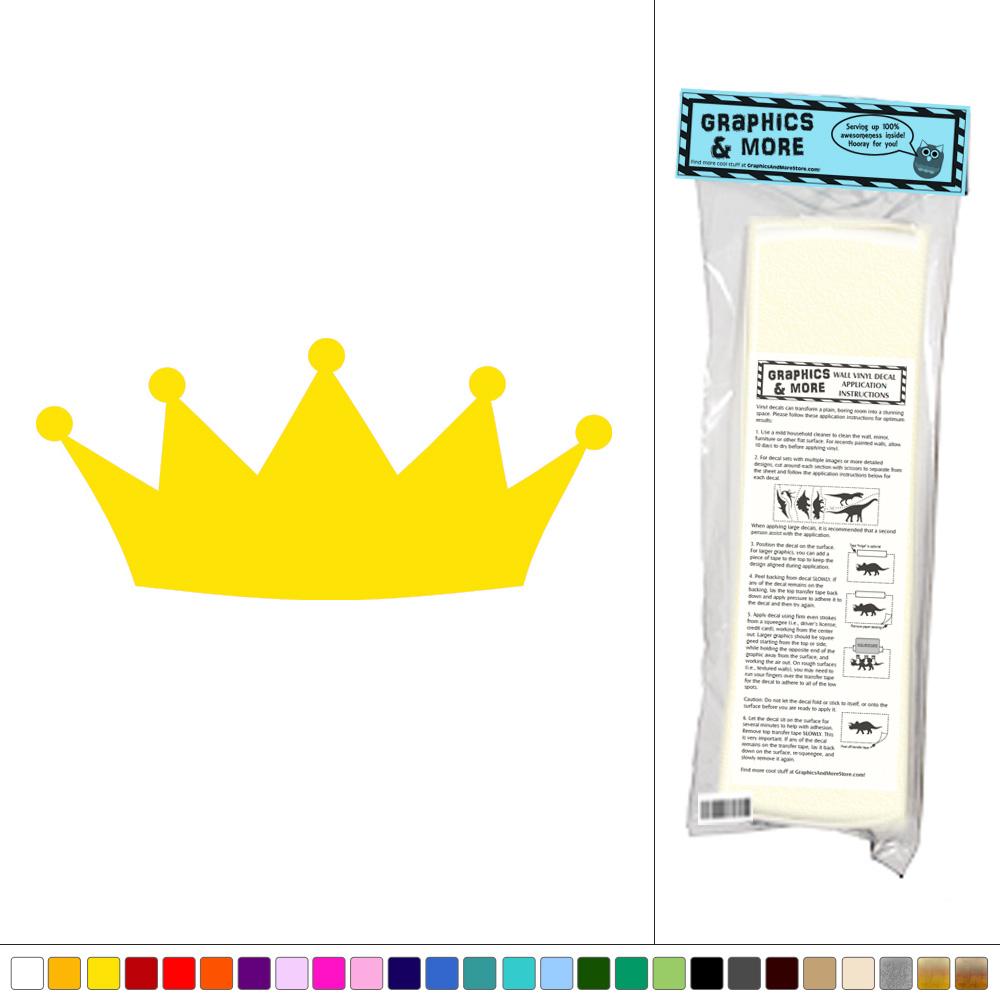 Crown - Royalty Prince Princess - Vinyl Sticker Decal Wall Art Decor ...