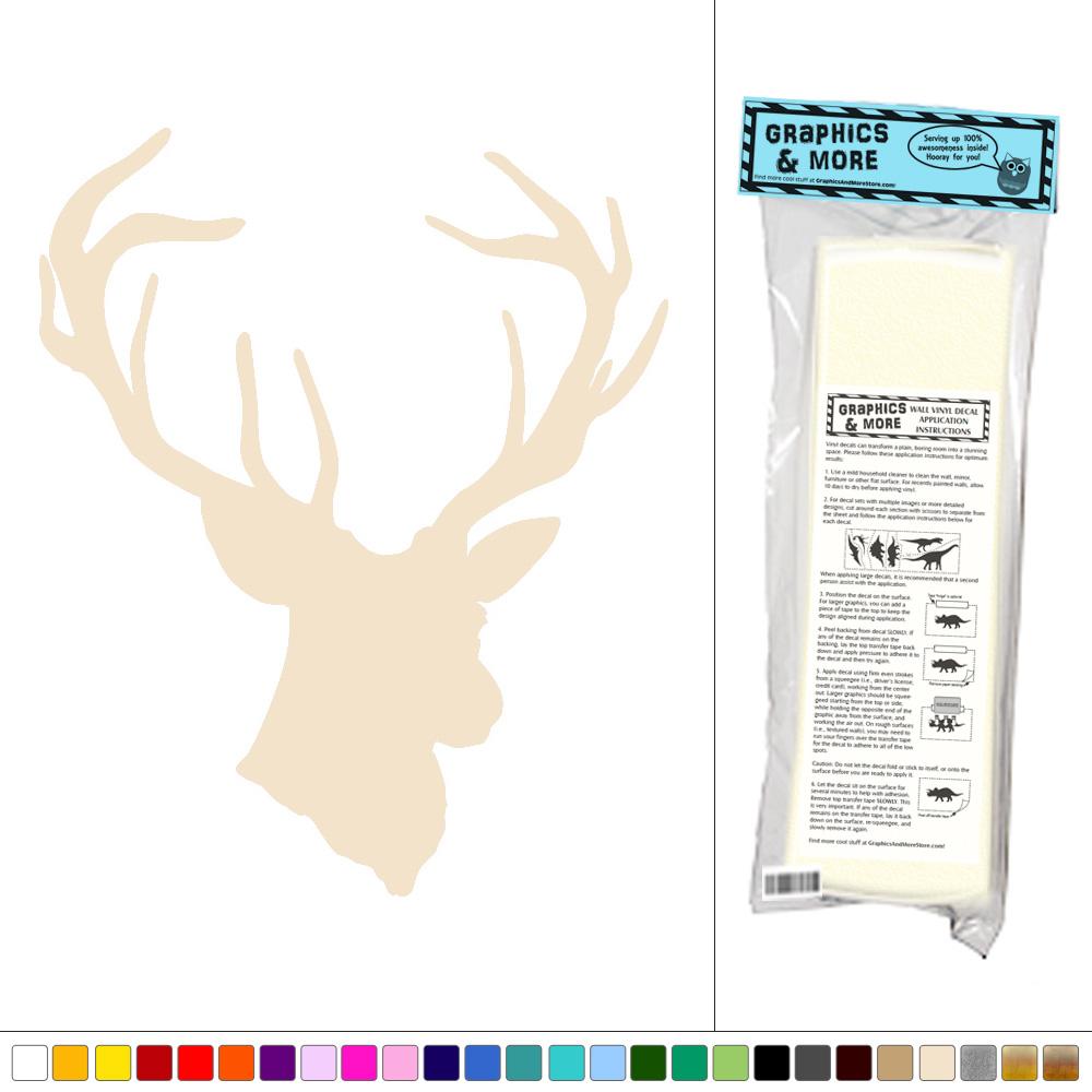 Deer Head Wall Art deer head - vinyl sticker decal wall art decor | ebay
