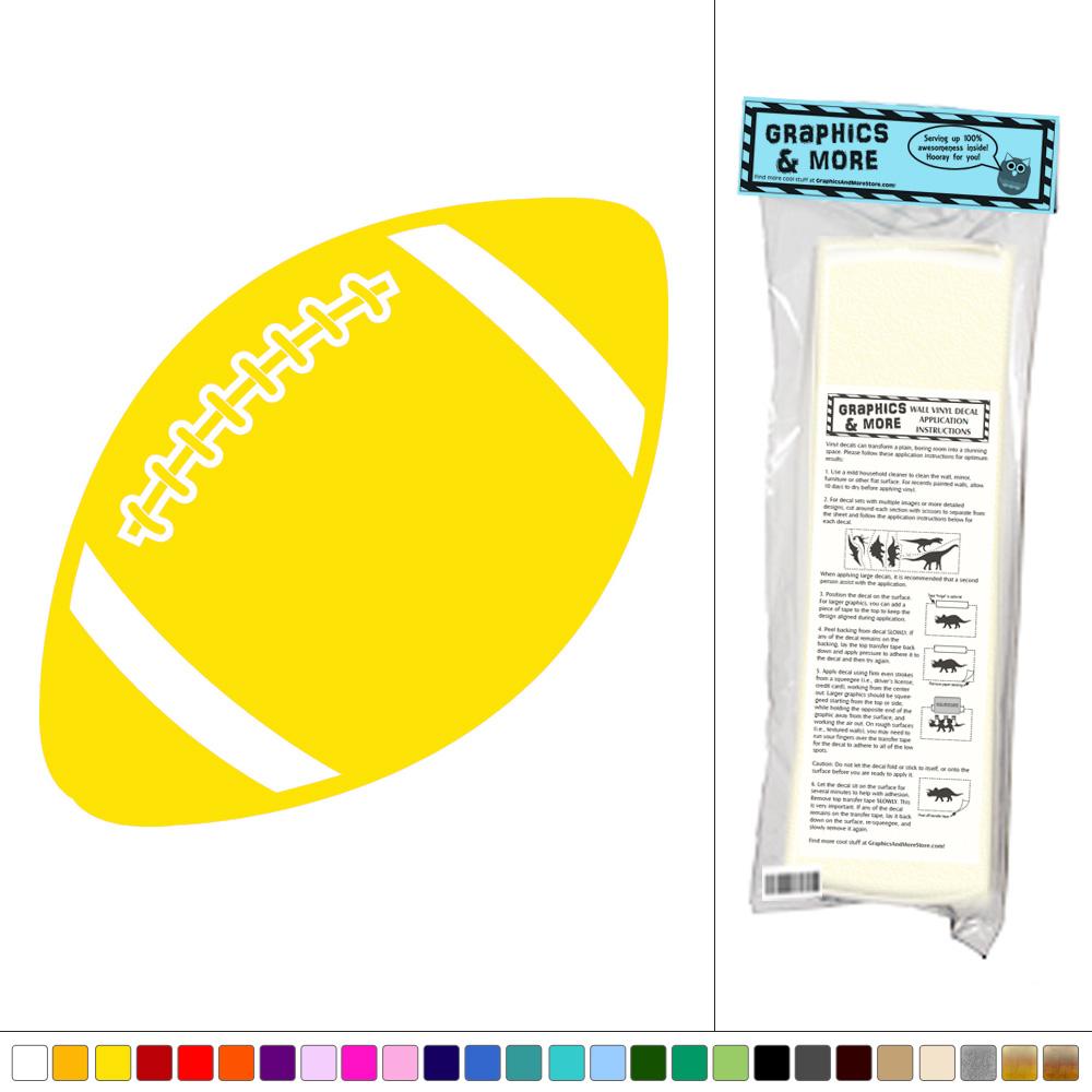 Football - Ball Sports Kids Boys Room - Vinyl Sticker Decal Wall Art ...