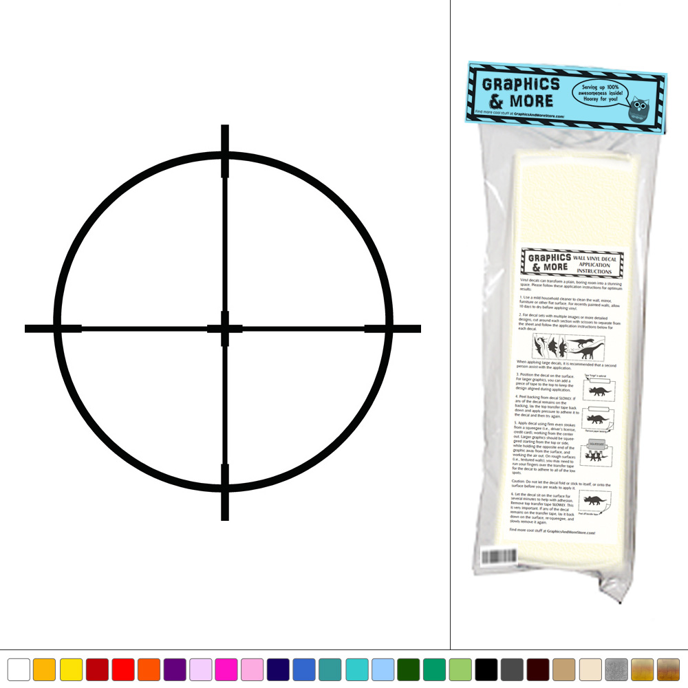 Rifle Sight Scope - Sniper Target - Vinyl Sticker Decal ...