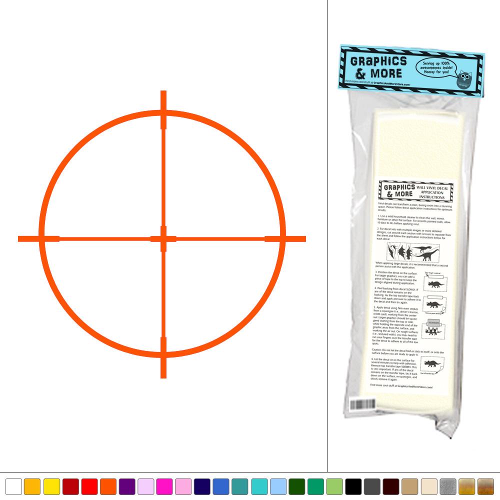 Rifle Sight Scope Sniper Target Vinyl Sticker Decal  Good Looking