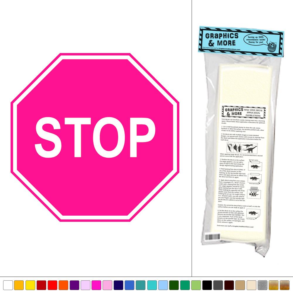 Stop Sign Road Kids Room Vinyl Sticker Decal Wall Art