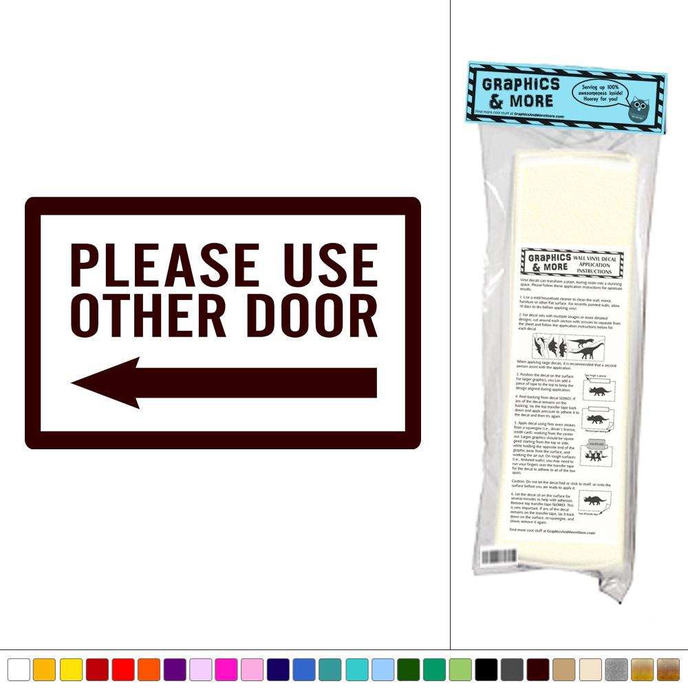 please use other door in spanish notice keep door closed sign
