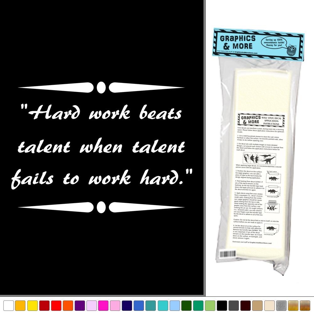 Hard Work Never Fails Quotes: Hard Work Beats Talent When Talent Fails To Work Hard