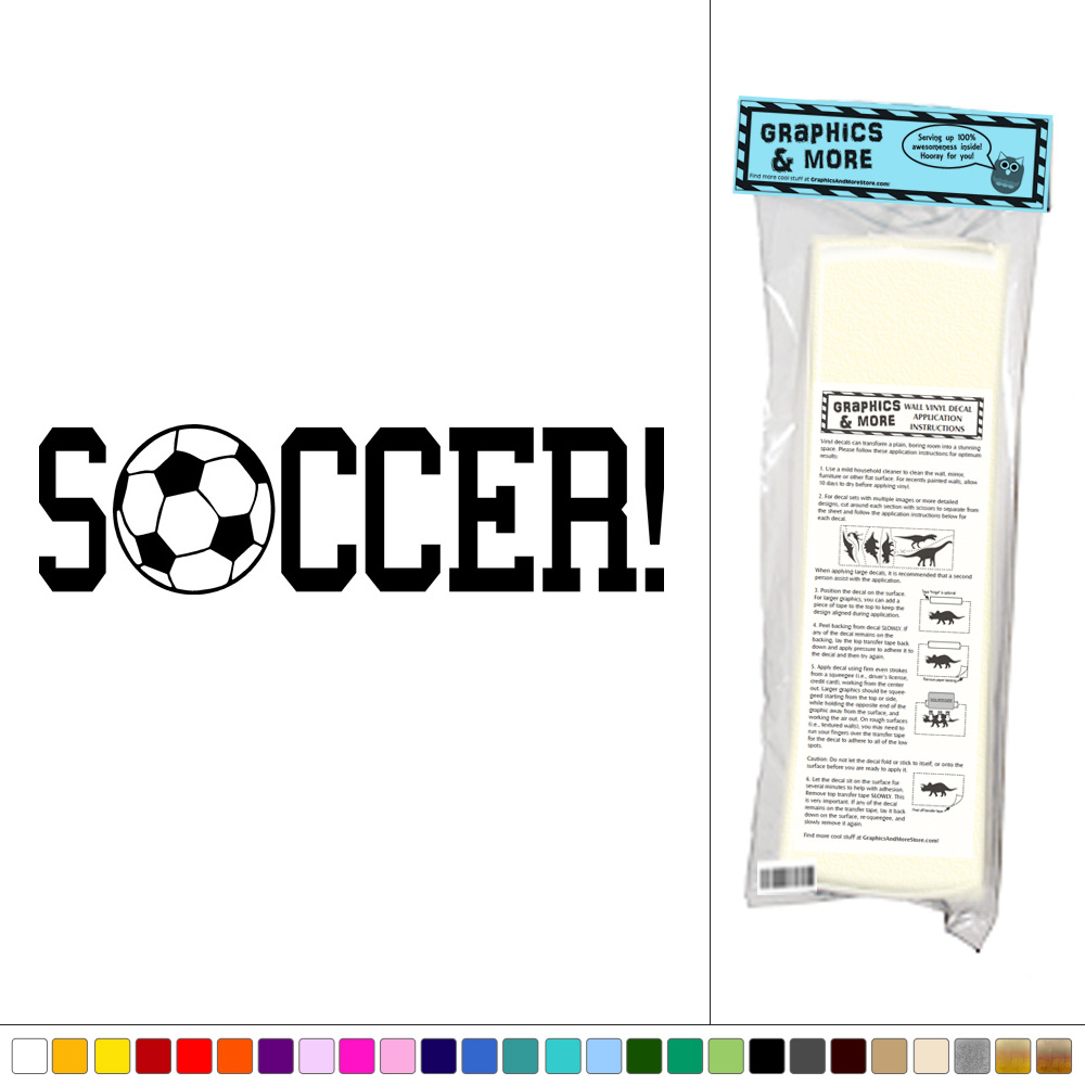 Soccer Sports Soccer Ball Vinyl Sticker Decal Wall Art