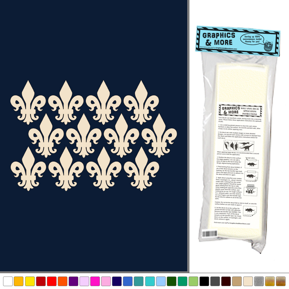 fleur de lis set of 12 vinyl sticker decal wall art fleur de lis wall decals amp wall stickers zazzle