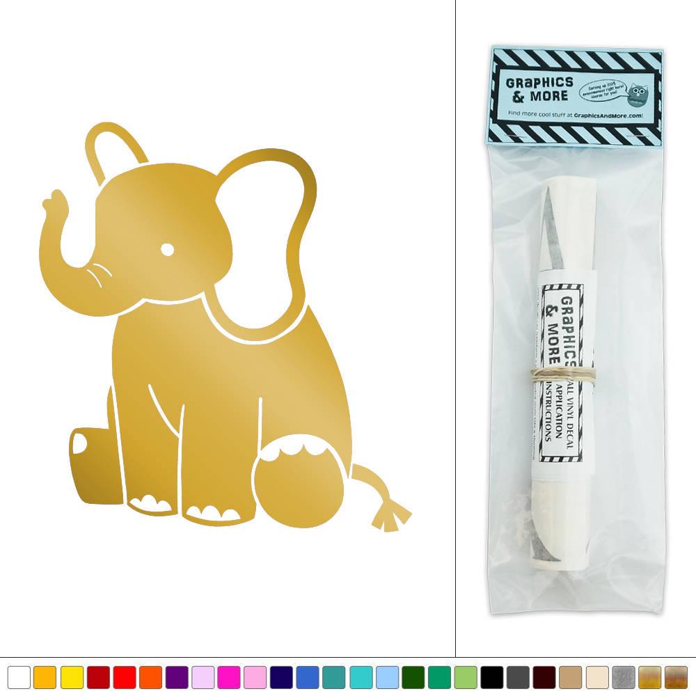 Cute Baby Elephant Vinyl Sticker Decal Wall Art Décor | eBay