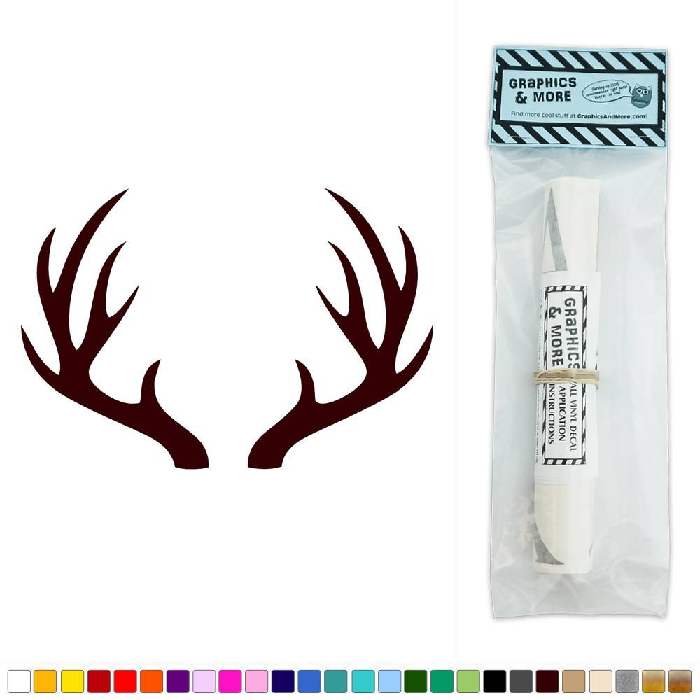 Deer Antlers Hunting Vinyl Sticker Decal Wall Art D 233 Cor Ebay