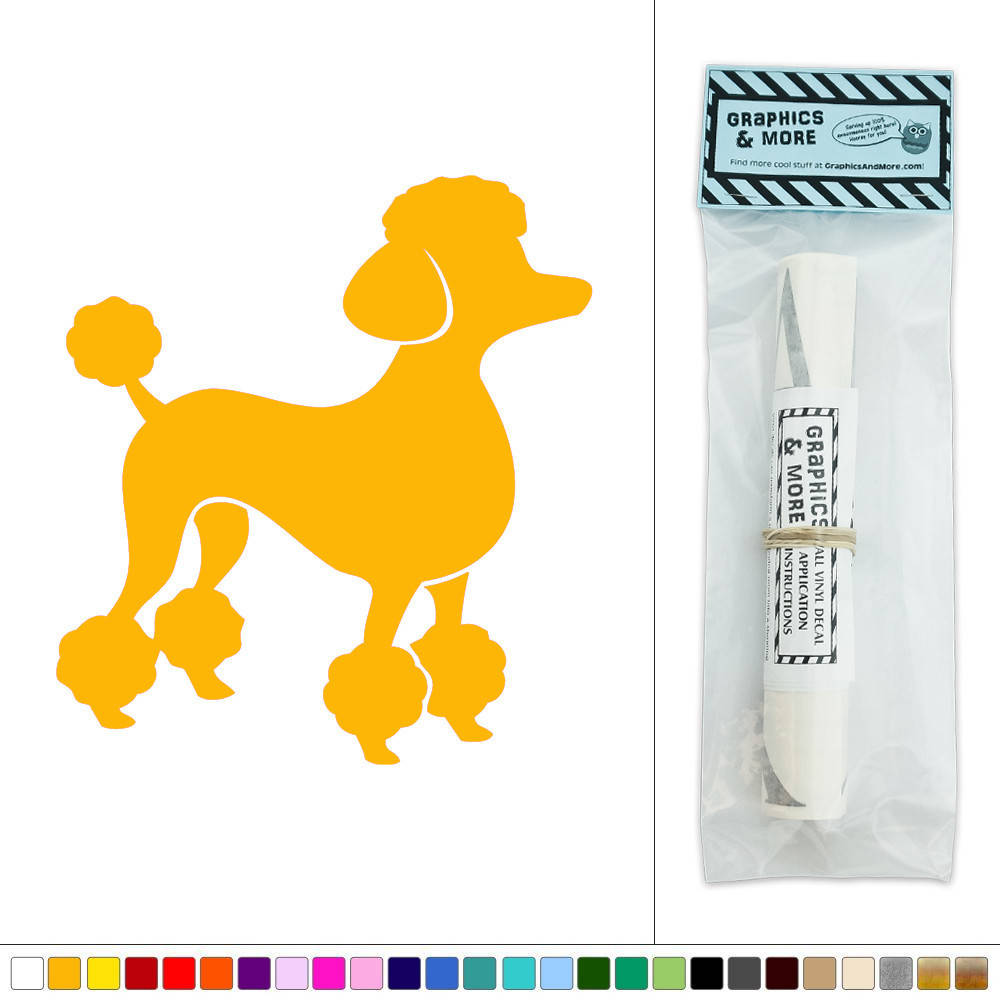 French Poodle Vinyl Sticker Decal Wall Art Décor | eBay