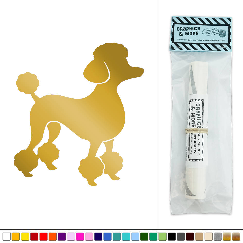 French Poodle Vinyl Sticker Decal Wall Art Décor   eBay
