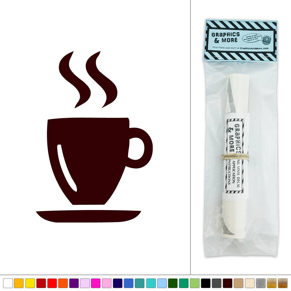 Hot Drink Coffee Tea Vinyl Sticker Decal Wall Art D 233 Cor Ebay