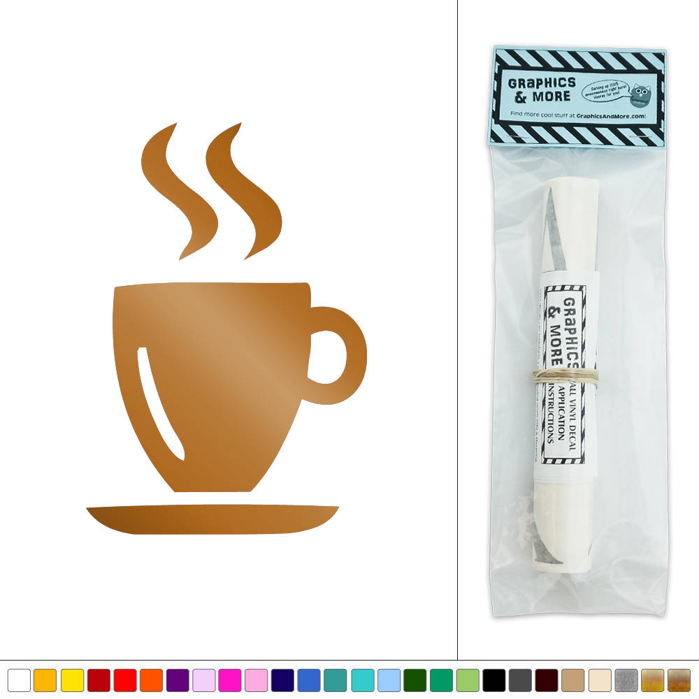 Hot drink coffee tea vinyl sticker decal wall art d cor ebay for Mural coffee