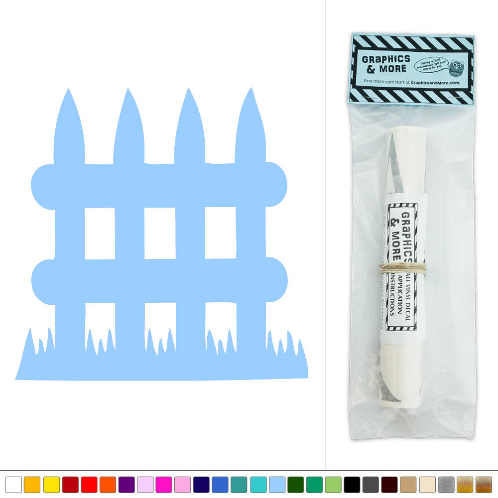 small picket fence vinyl sticker decal wall art d 233 cor ebay teddy bears adhesive small wall sticker