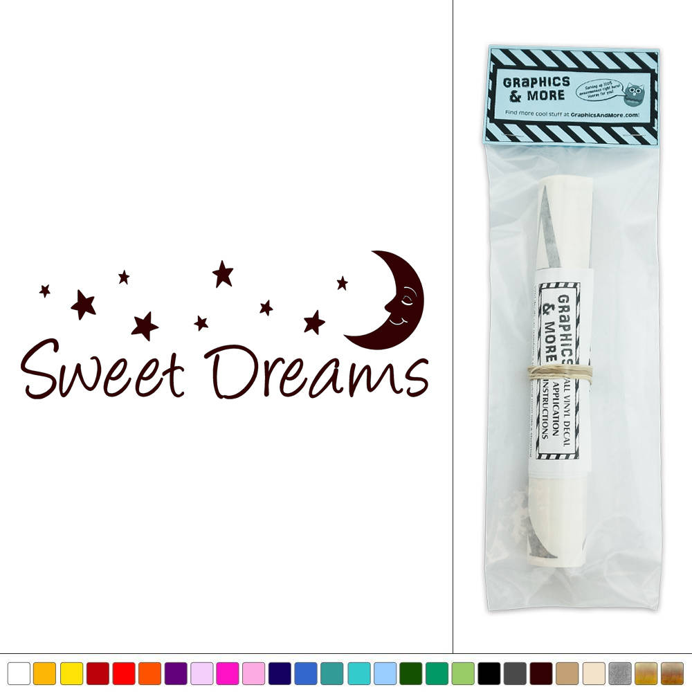 Sweet dreams vinyl sticker decal wall art d cor ebay for Decor dreams