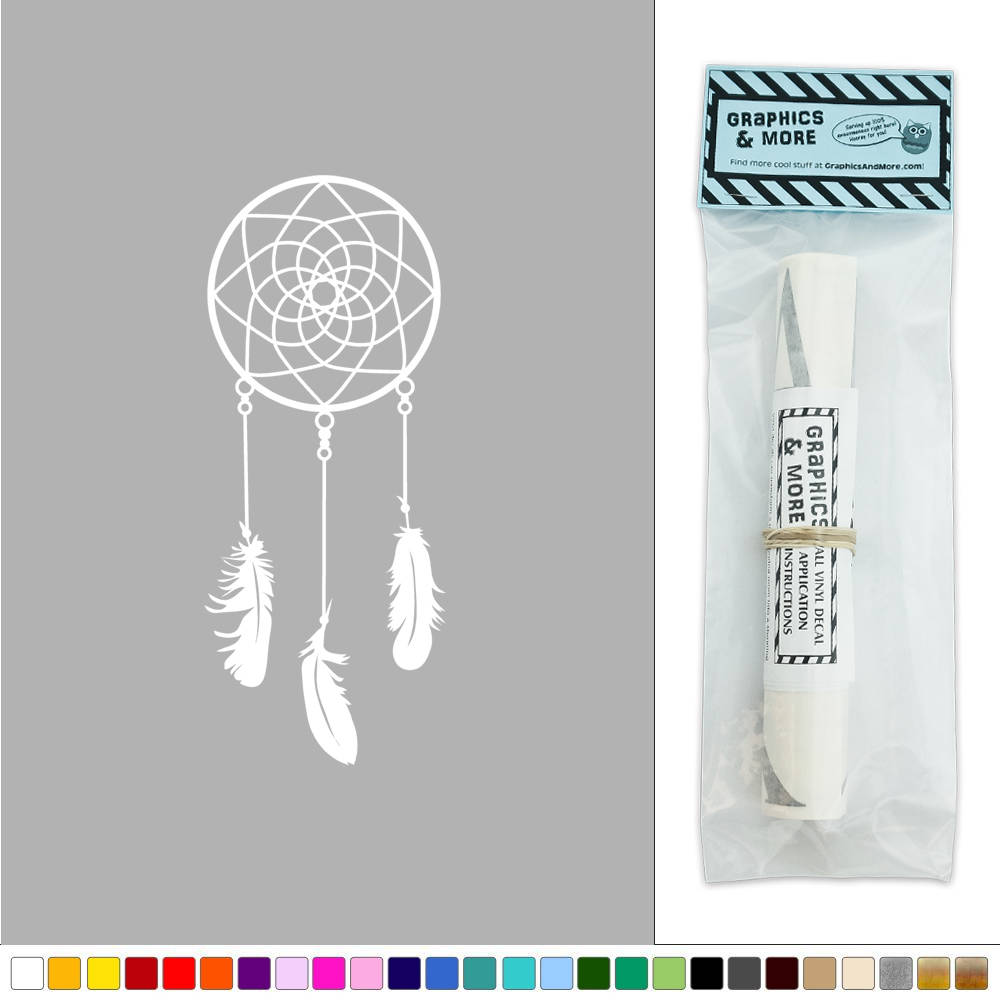 Dreamcatcher three feathers hip native nursery sticker for Hip home decor