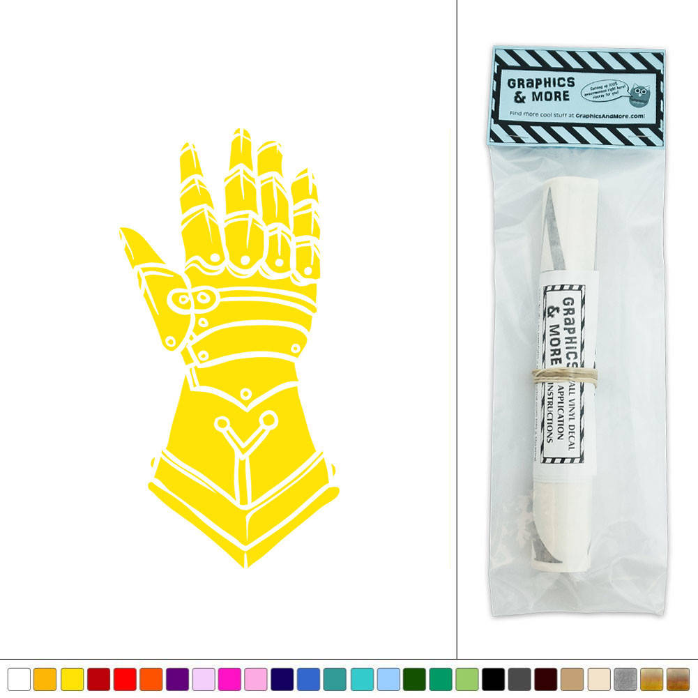Medieval Knight\'s Glove of Armor Vinyl Sticker Decal Wall Art Décor ...