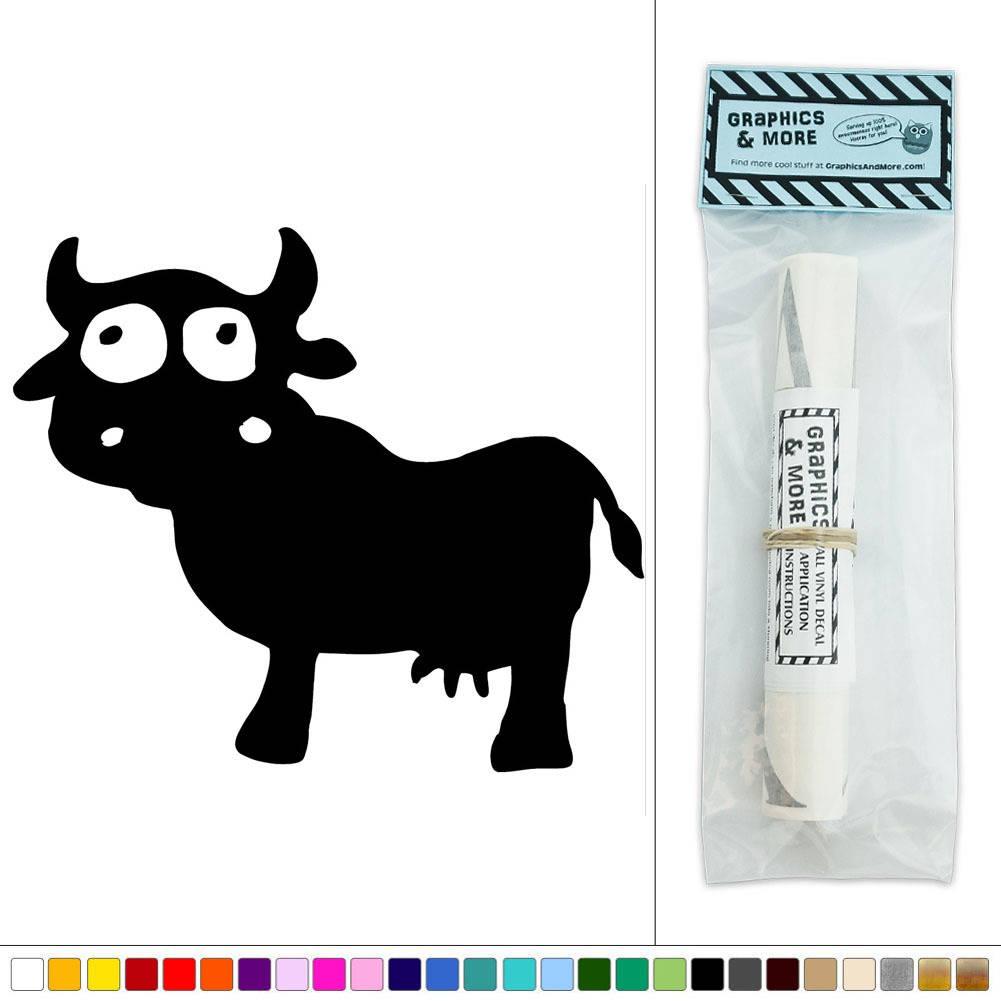Cute cow farm animal vinyl sticker decal wall art d cor ebay for Cute wall decor