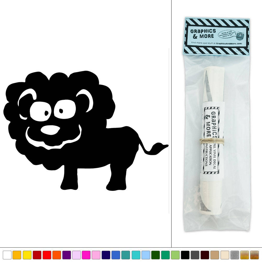 Cute Black Wall Decor : Cute lion zoo animal vinyl sticker decal wall art d?cor