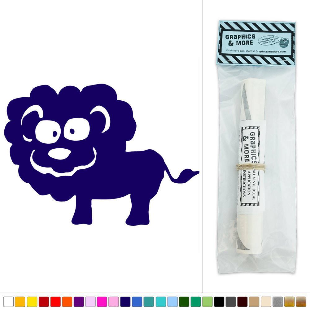 Cute lion zoo animal vinyl sticker decal wall art d cor for Cute wall hangings