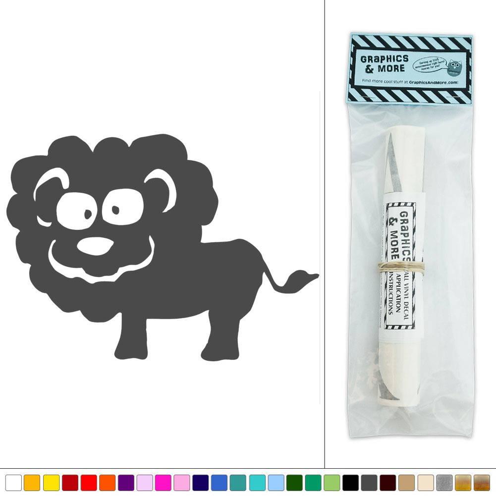 Cute lion zoo animal vinyl sticker decal wall art d cor for Cute wall decor