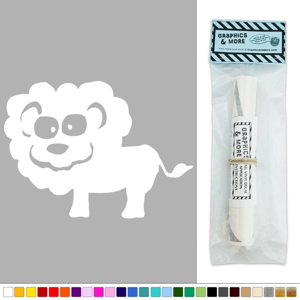 Cute lion zoo animal vinyl sticker decal wall art d cor ebay for Cute wall decor