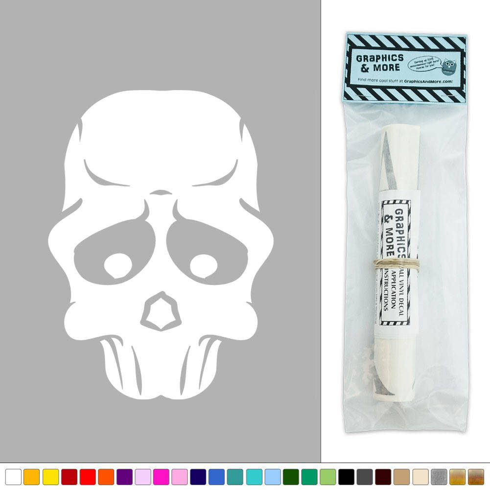 Quirky Wall Decoration : Quirky skull head halloween vinyl sticker decal wall art d?cor
