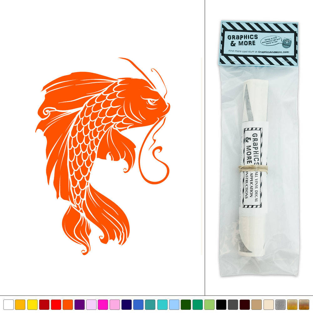 Koi fish japanese vinyl sticker decal wall art d cor ebay for Koi carp wall art