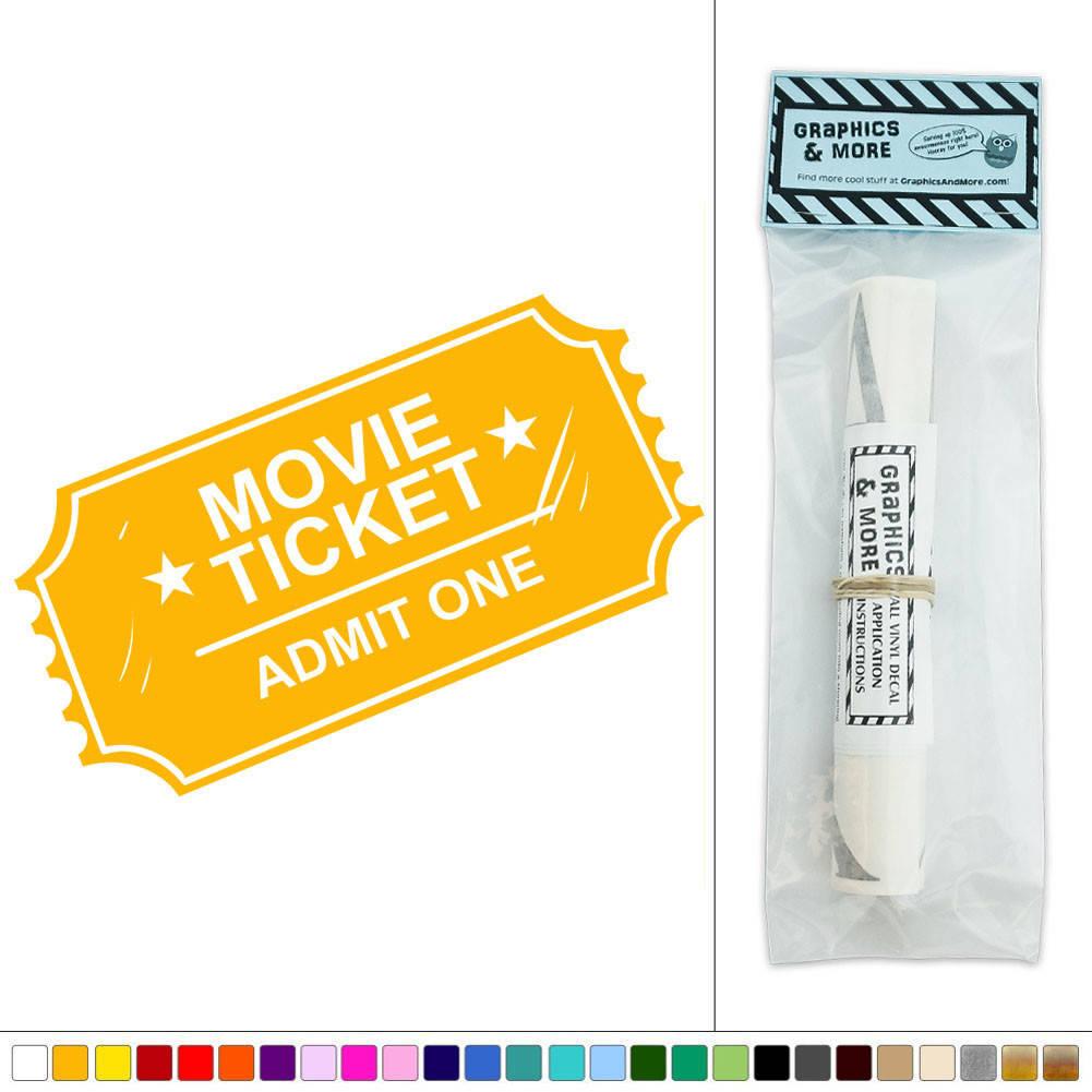 Movie Ticket Admit One Vinyl Sticker Decal Wall Art Décor   eBay