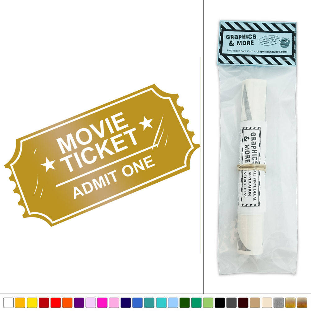 Movie Ticket Admit One Vinyl Sticker Decal Wall Art Décor | eBay