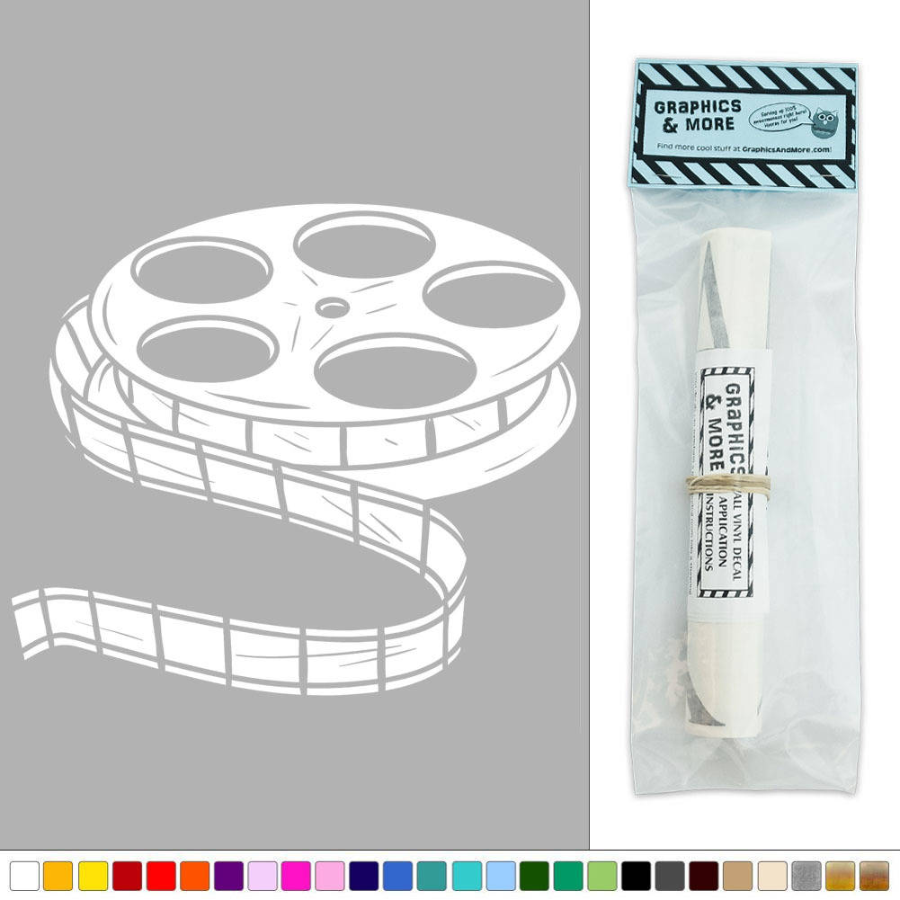 Movie Film Reel Vinyl Sticker Decal Wall Art Décor