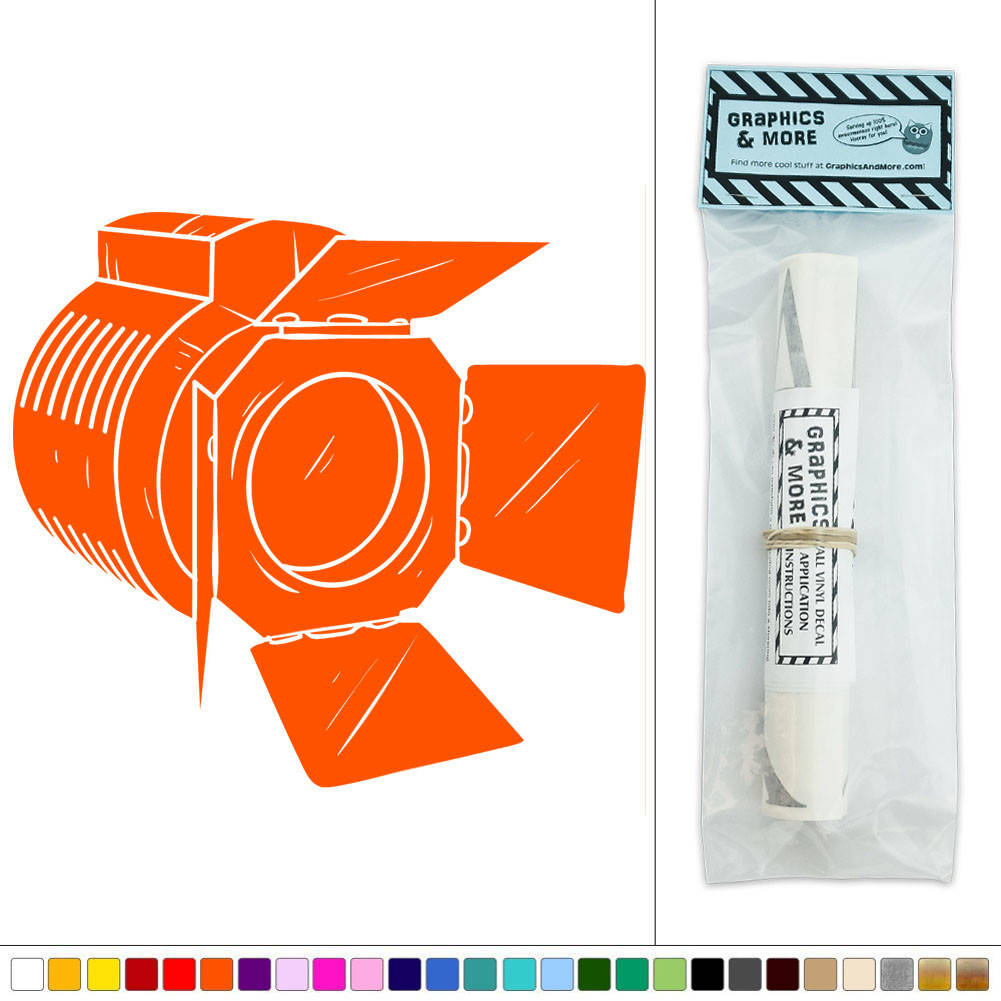 Wall Decor Stickers Making : Spotlight movie film making vinyl sticker decal wall art
