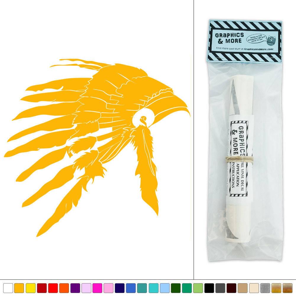Native American Headdress War Bonnet Vinyl Sticker Decal Wall Art ...