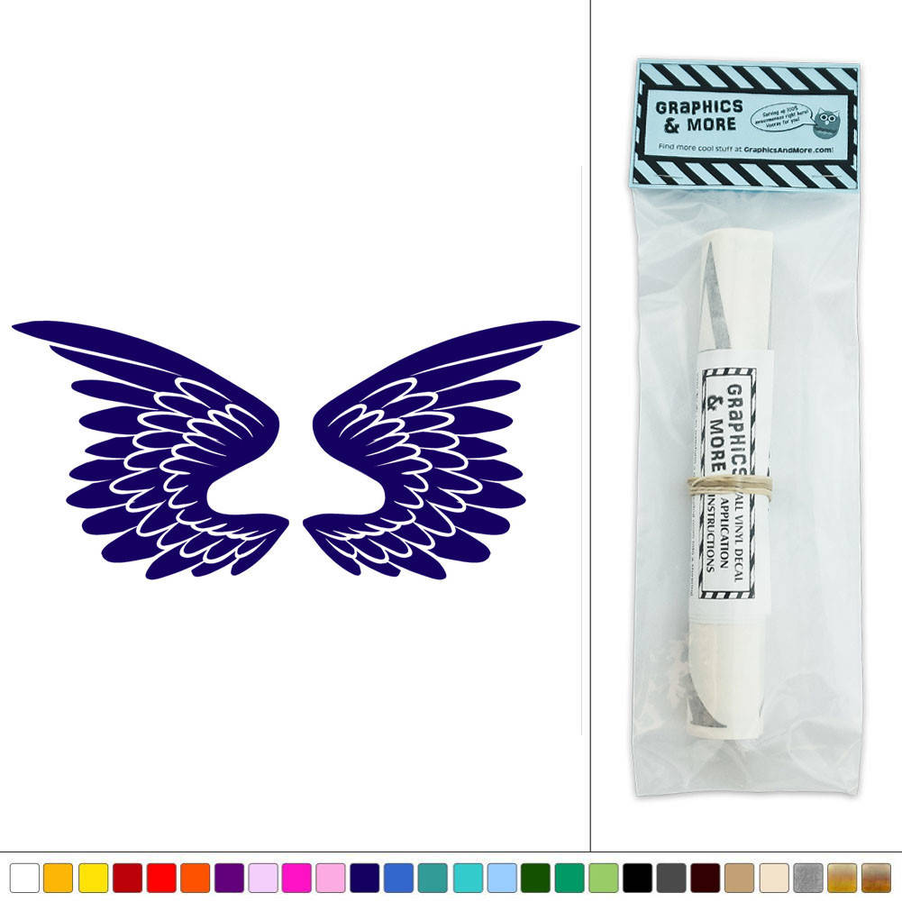 Feather Angel Wings Wall Decor : Wings angel bird feathers vinyl sticker decal wall art