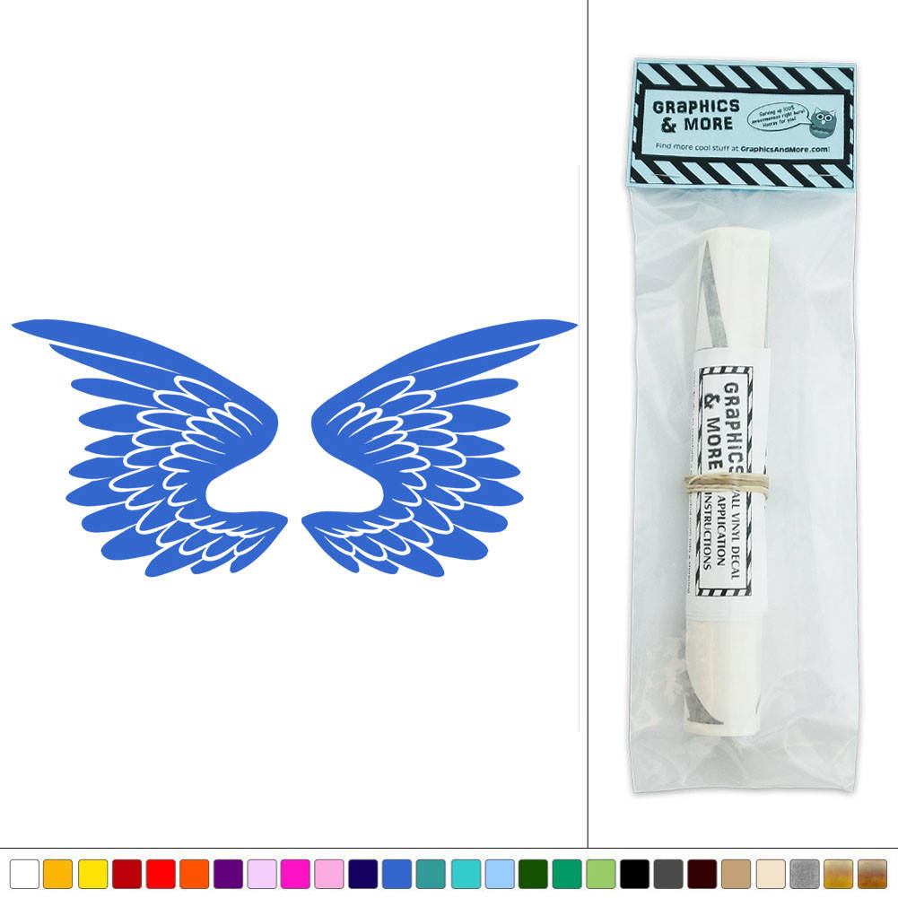 Wings Angel Bird Feathers Vinyl Sticker Decal Wall Art