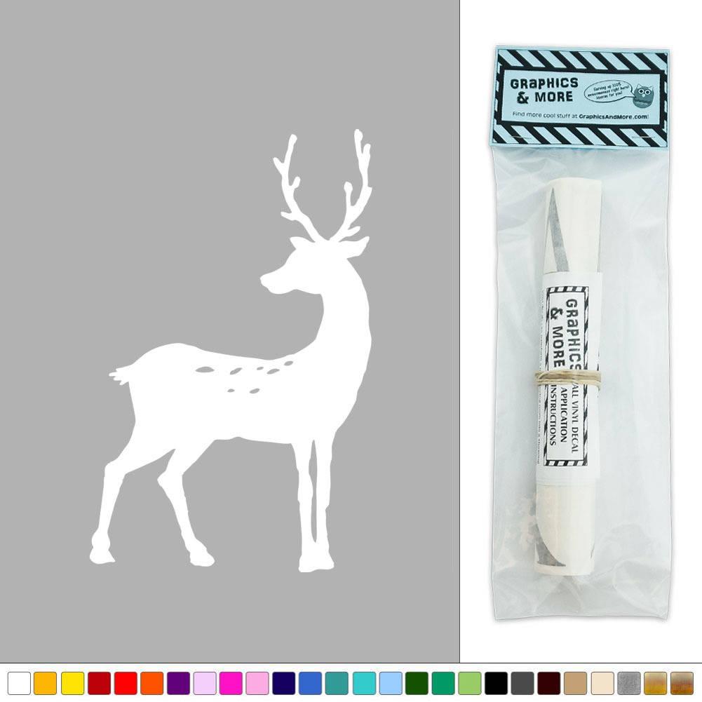 Deer buck antlers vinyl sticker decal wall art d cor ebay for Deer mural decal