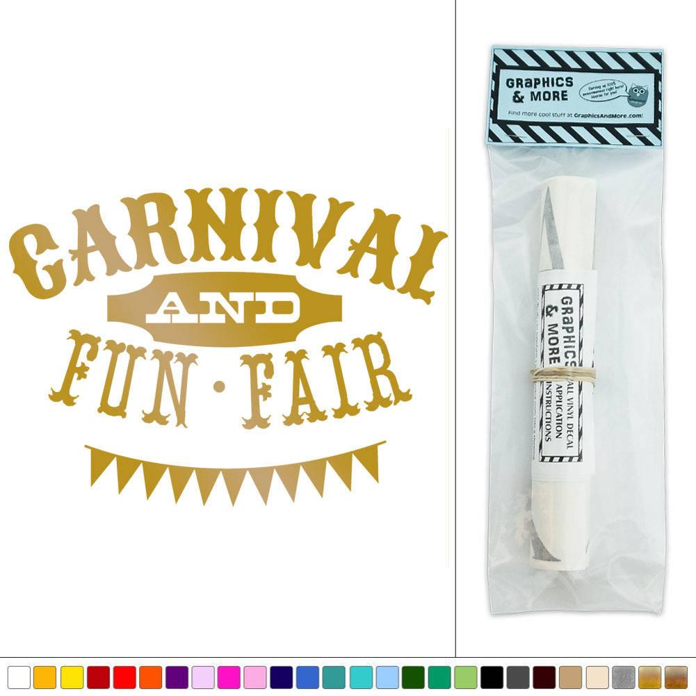 Carnival and Fun Fair Circus Vinyl Sticker Decal Wall Art Décor | eBay
