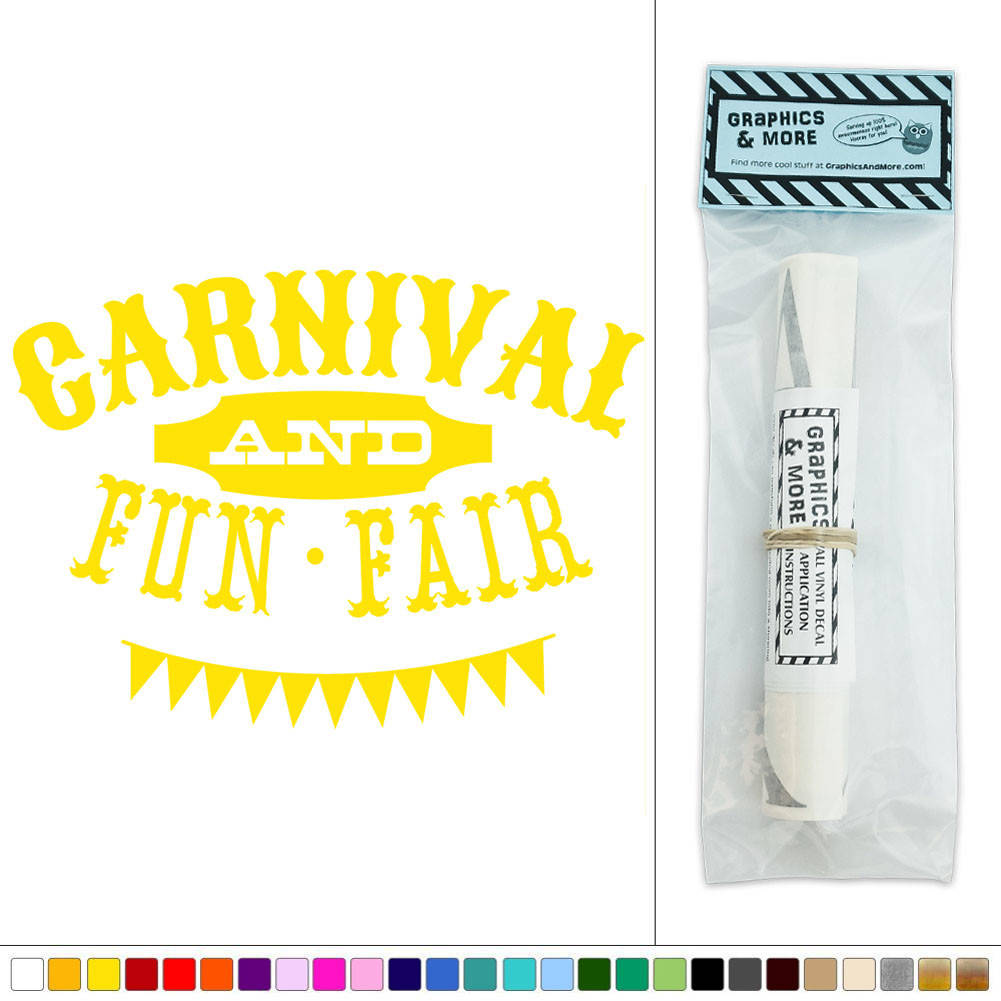 Carnival and Fun Fair Circus Vinyl Sticker Decal Wall Art Décor | eBay