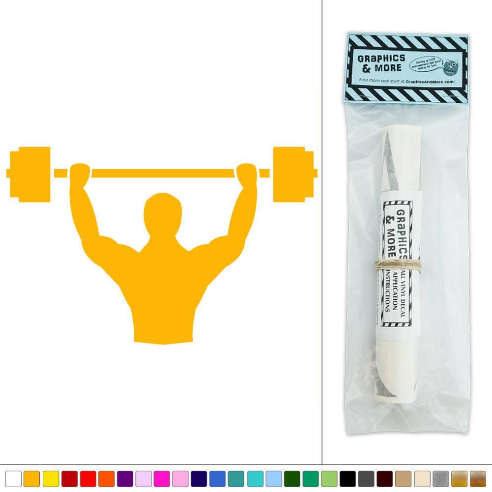 Details about Weightlifting Barbells Muscles Sports Vinyl Sticker Decal Wall Art Décor