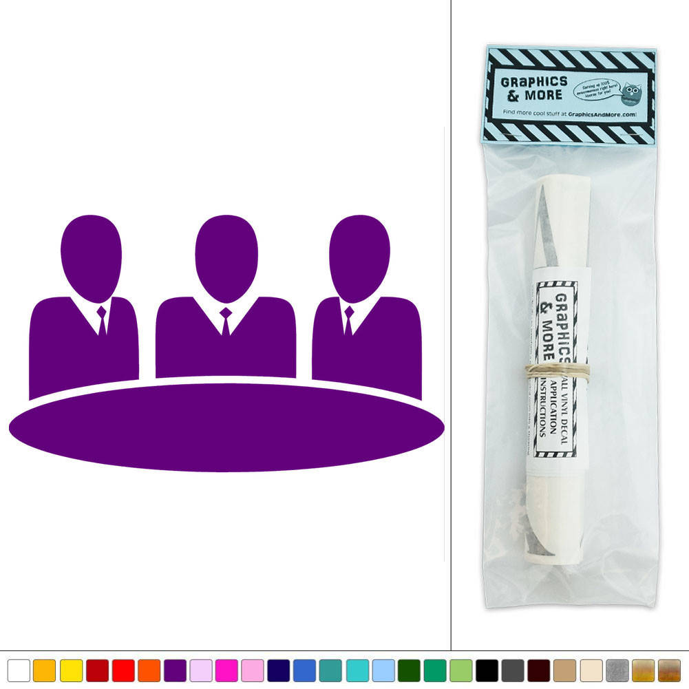 Round table meeting icon - Business Meeting Round Table Icon Vinyl Sticker Decal