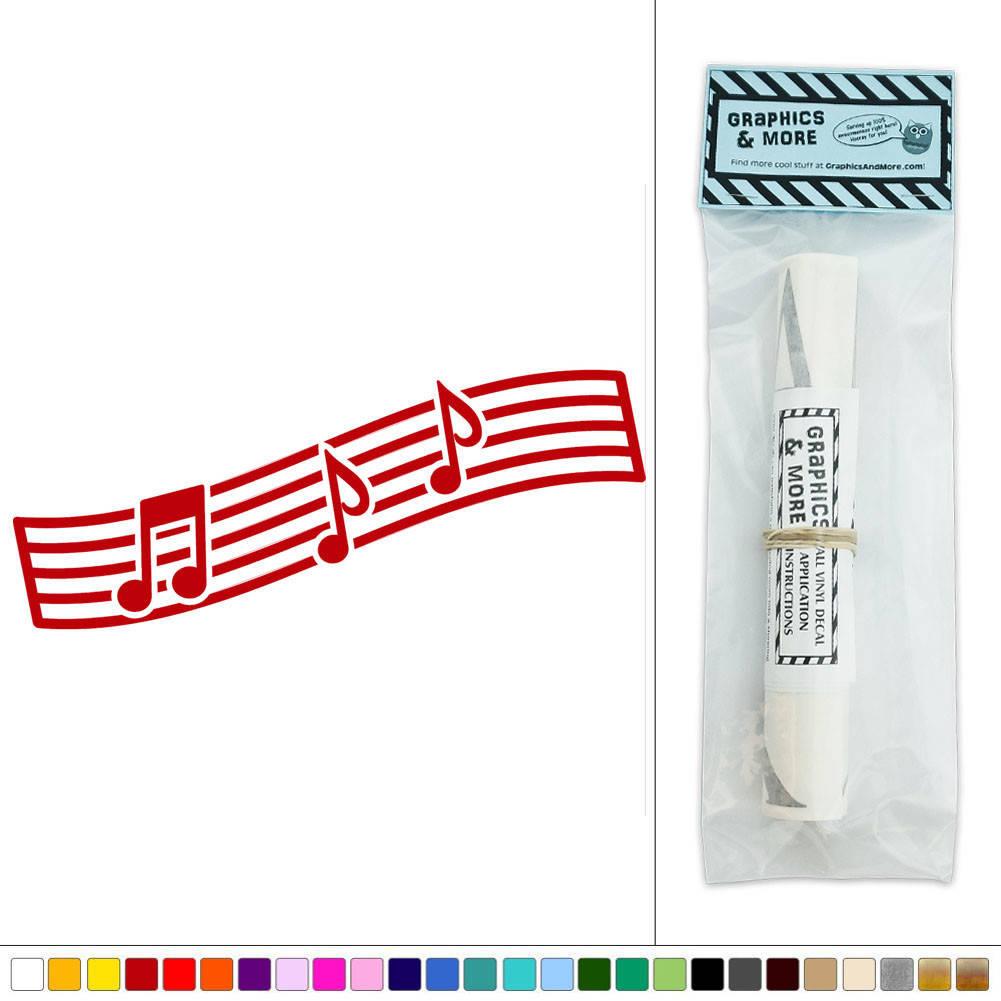 music notes on staff vinyl sticker decal wall art d cor. Black Bedroom Furniture Sets. Home Design Ideas