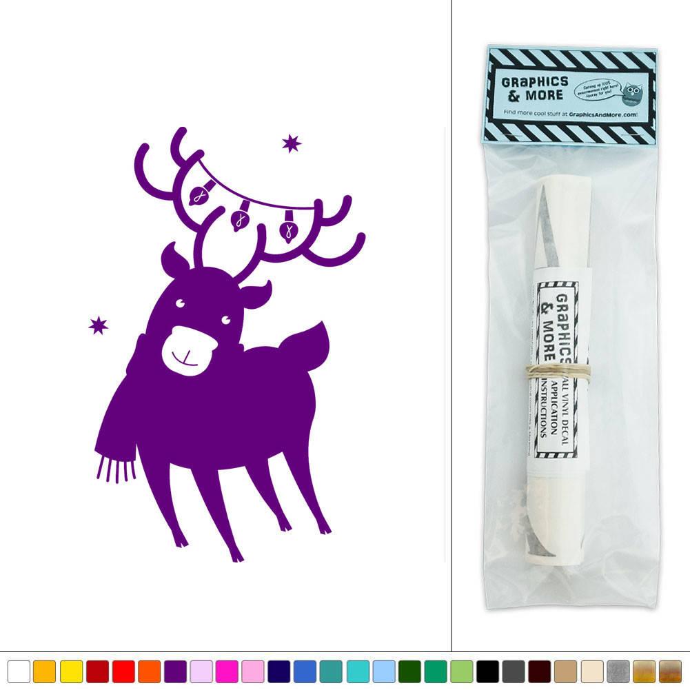 reindeer christmas lights vinyl sticker decal wall art merry christmas quote wall sticker wall sticker shop