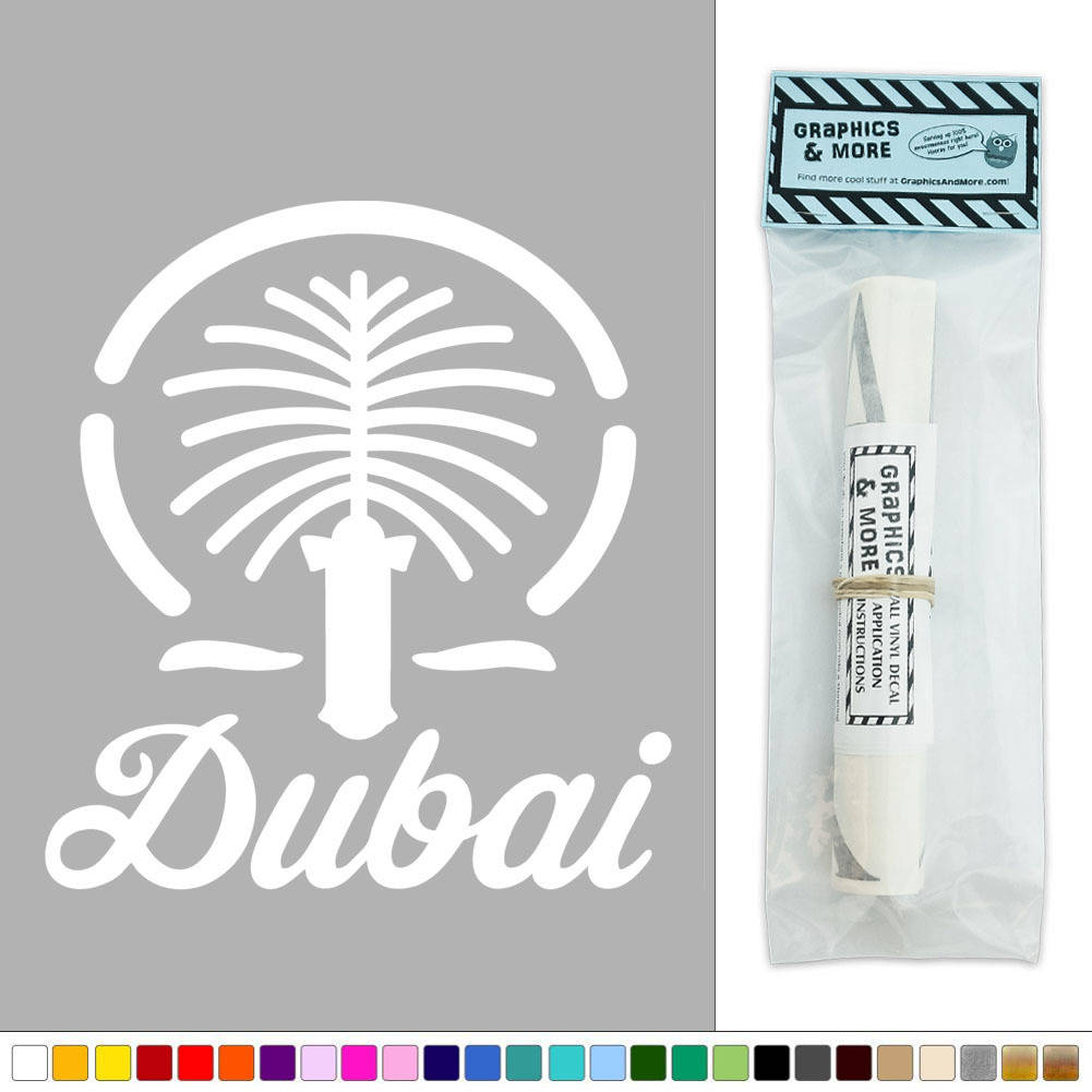 Wall Art Stickers Dunelm : Dubai united arab emirates vinyl sticker decal wall art