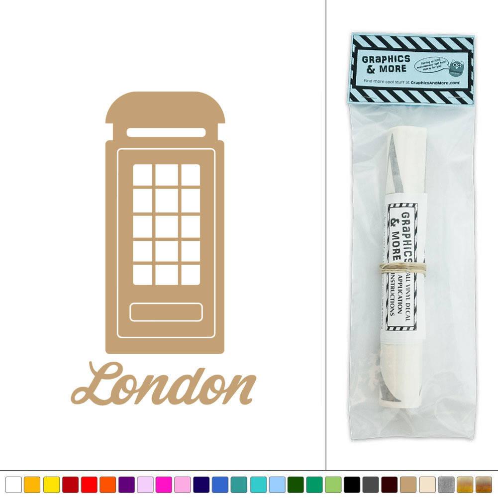 Wall Art Telephone Box : London telephone booth call box vinyl sticker decal wall
