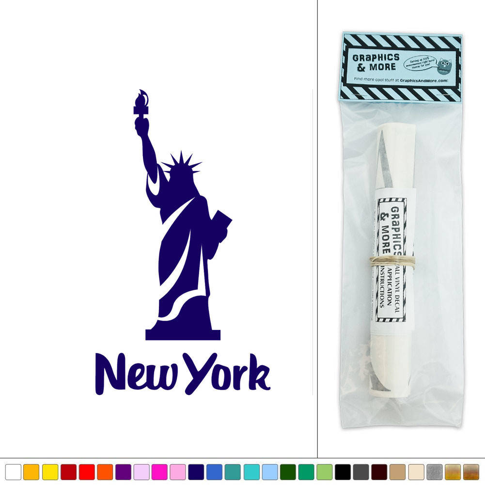 New York Statue Of Liberty Usa Vinyl Sticker Decal Wall Art D Cor Ebay