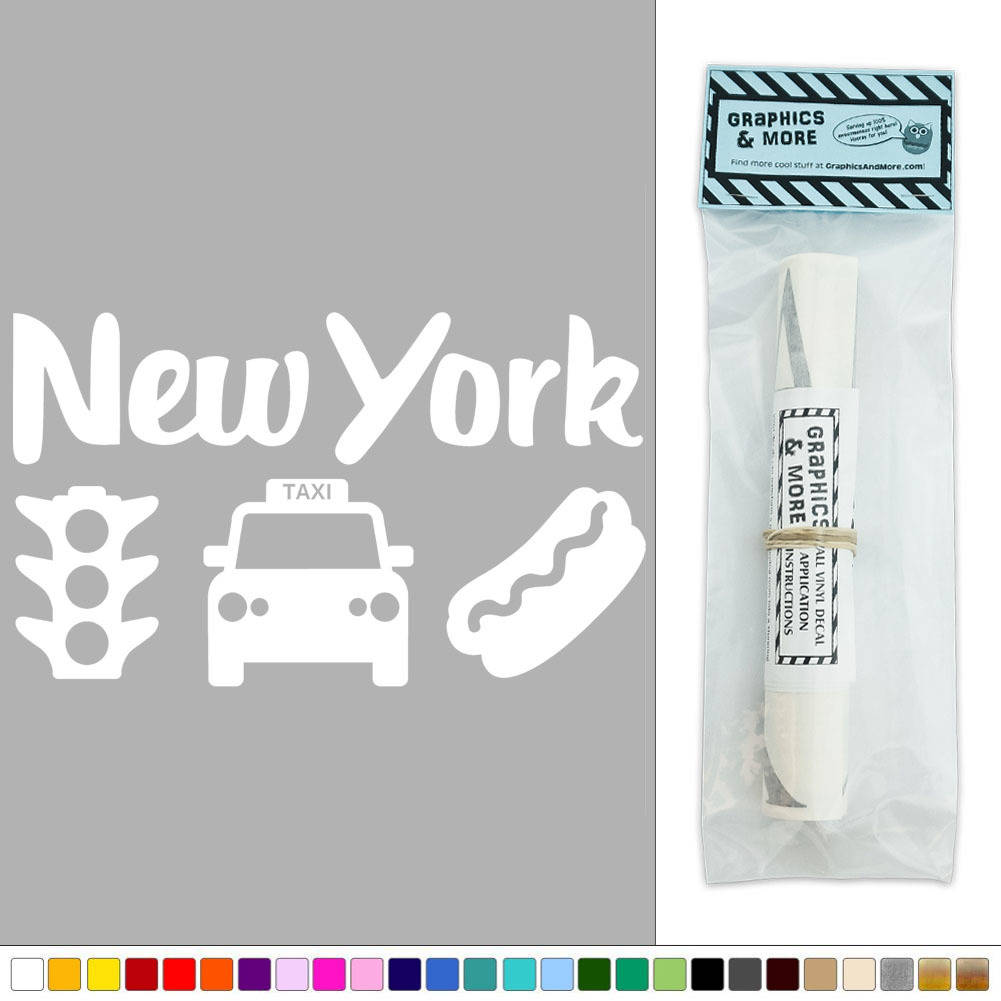 Wall Hanging Traffic Light : New York Taxi Traffic Light Hot Dog USA Vinyl Sticker Decal Wall Art Decor eBay