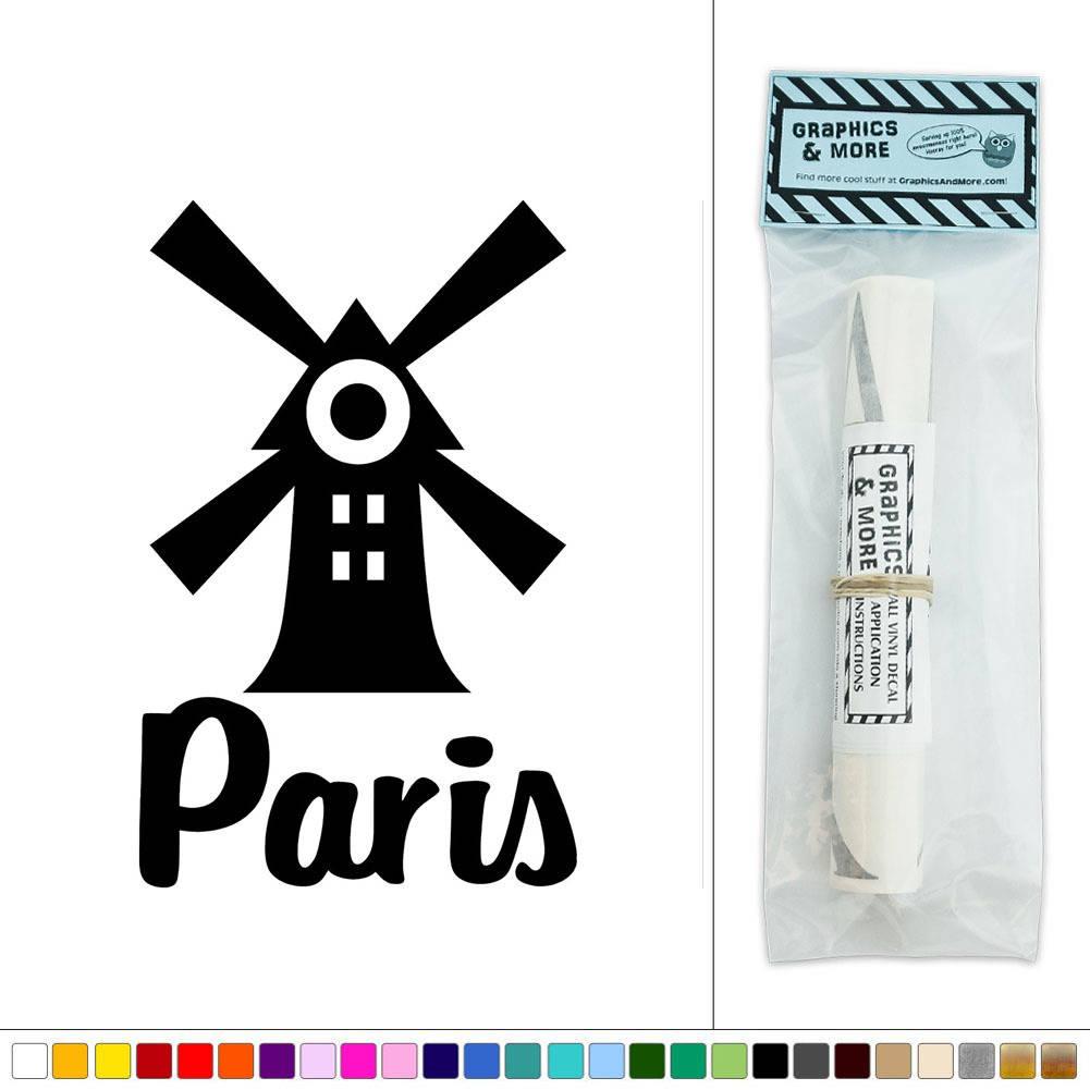 paris windmill red cabaret france vinyl sticker decal wall vinyl wall stickers flowers home decor amp interior exterior