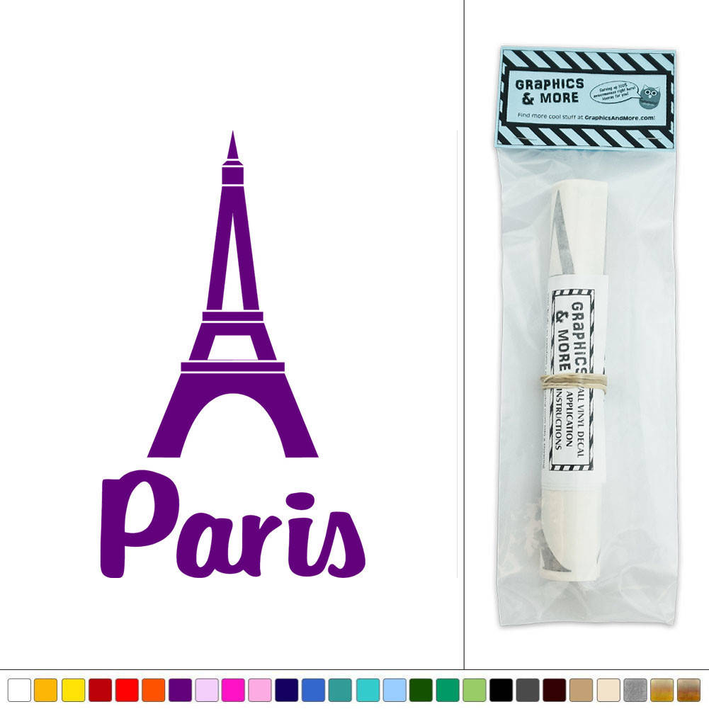 Paris eiffel tower france vinyl sticker decal wall art for Art and decoration france