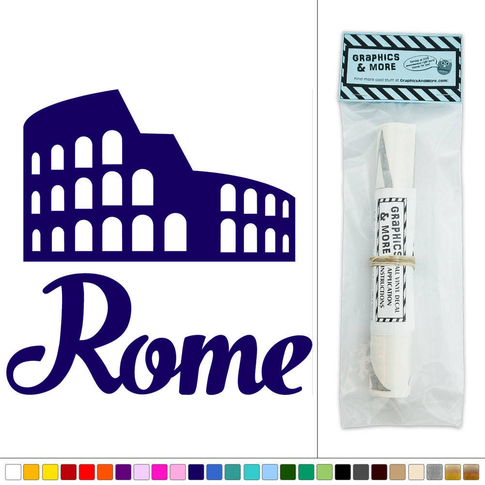 Rome roman colosseum coliseum italy vinyl sticker decal for Wall stickers roma